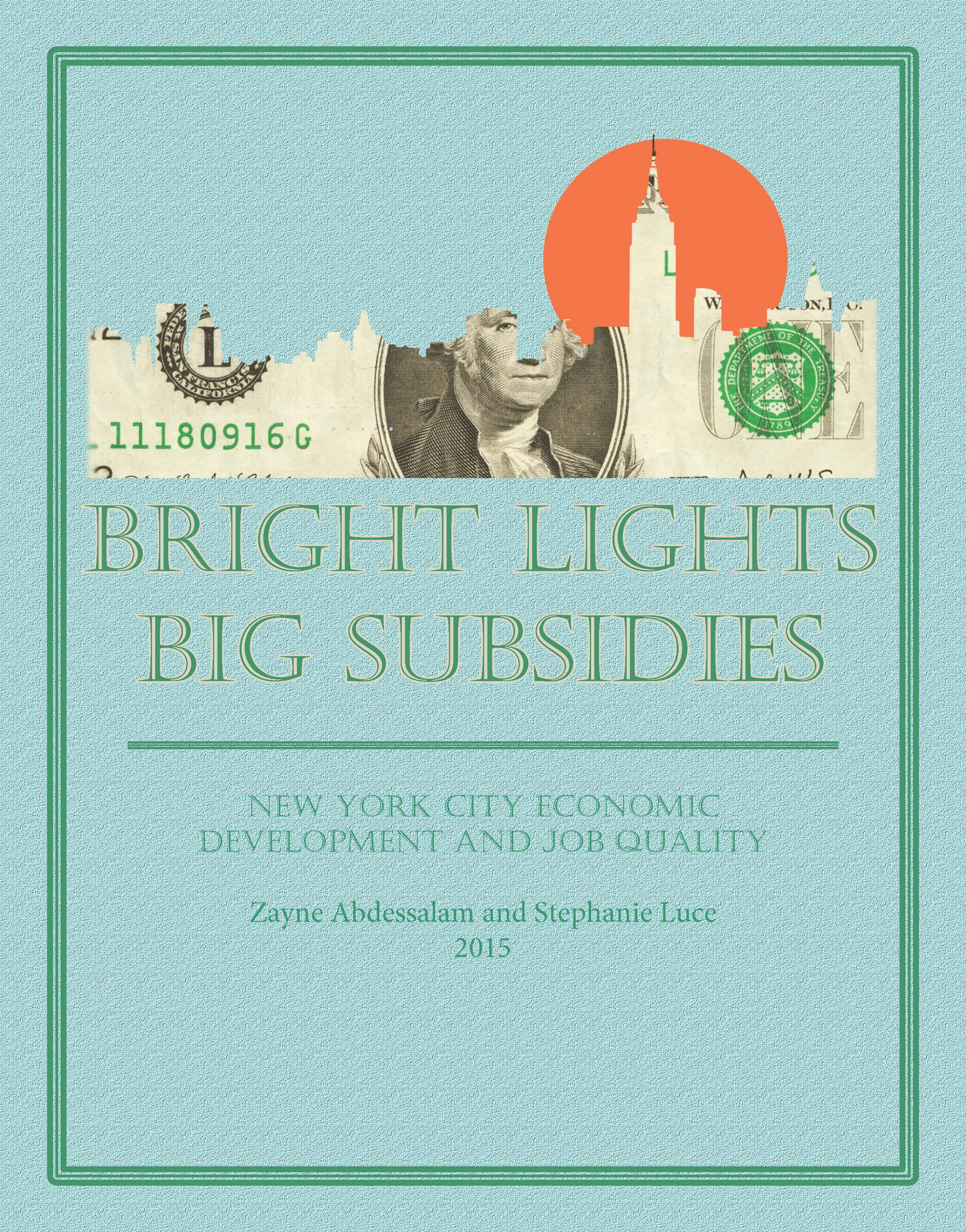 Subsidy report cover